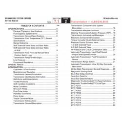 2007 Workhorse W-Series Hydra-Matic (4L80-E & 4L85-E) Transmission Service Manual Download