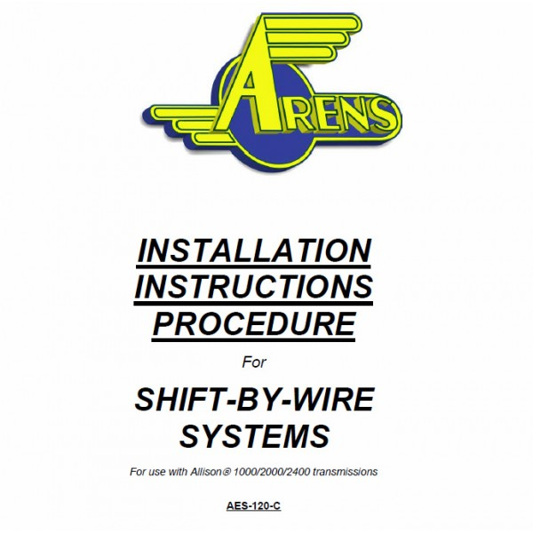 2007 2008 Workhorse R26 UFO Arens Shift by Wire Service