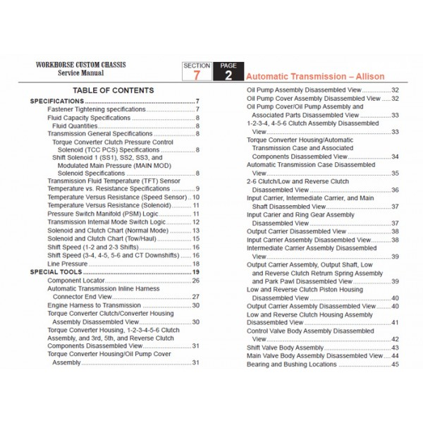 Allison transmission service Manual Download