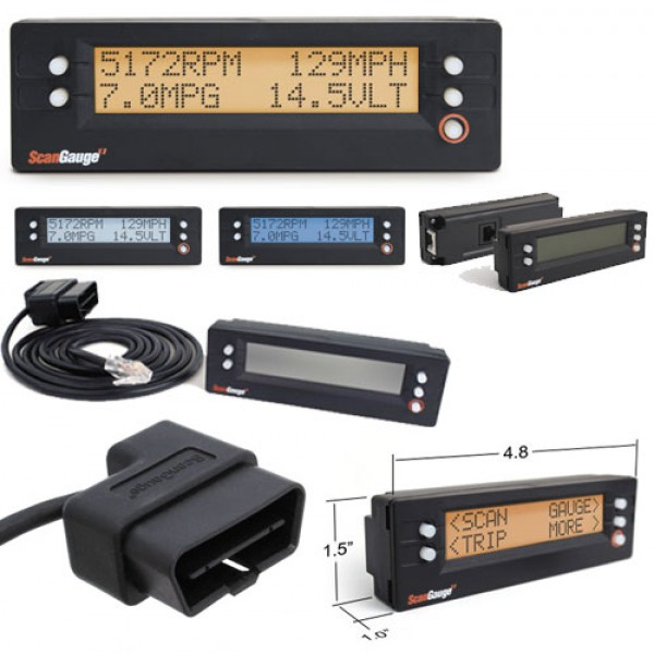 SG2 ScanGaugeII OBD2 Vehicle Monitor